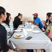 Tracey Begaye, a senior at Middle College High School, hosted a veterans pancake breakfast in Gallup, Saturday for her National Honor Society project in collaboration with the University of New Mexico-Gallup Veterans Resource Center. Several veterans in Begaye's family attended, her aunt Elva Tillman, Elva's husband Charles Tillman and her aunt Katrina Smith.