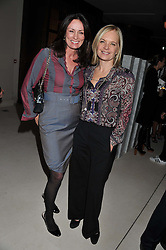 Left to right, TRISH SIMONON and MARIELLA FROSTRUP at a private dinner hosted by Lucy Yeomans in honour of Jason Brooks at The Cafe Royal, Regent Street, London on 13th February 2013.