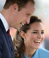The Duke and Duchess of Cambridge attend a World War One Aviation commemorative event at the Omaka Aviation Heritage Centre, Blenheim, as part of their tour of New Zealand and Australia in Wellington, New Zealand, on the 10th April 2014.