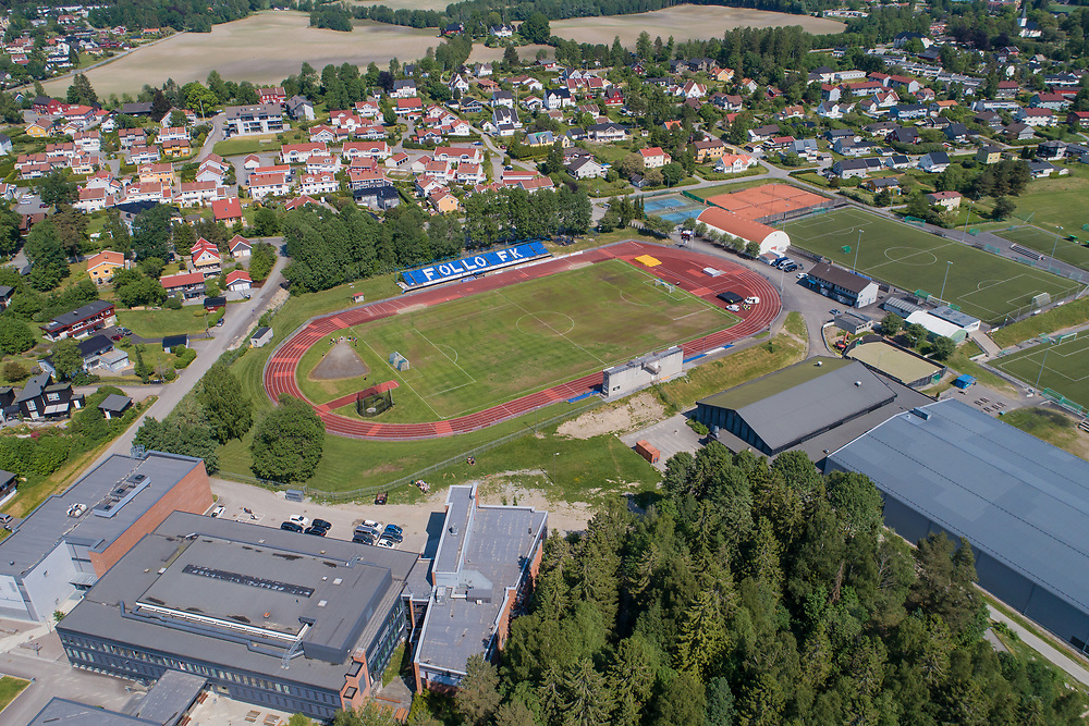 Oversiktsbilde som viser Ski stadion.