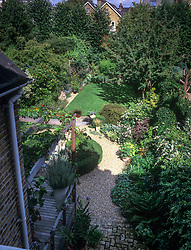 Sequence from an overhead fixed position showing the progression of sunlight and shade as it moves around the garden during the day. Position 4