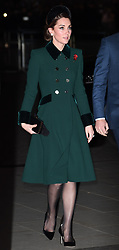 Members of the Royal Family attend a service to mark the centenary of the Armistice at Westminster Abbey, London, UK, on the 11th November 2018. 11 Nov 2018 Pictured: Catherine, Duchess of Cambridge, Kate Middleton. Photo credit: James Whatling / MEGA TheMegaAgency.com +1 888 505 6342