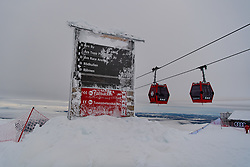 February 8, 2019 - Re, SWEDEN - 190208 General view of a lift system and iced signage during the FIS Alpine World Ski Championships on February 8, 2019 in re..Photo: Joel Marklund / BILDBYRN / kod JM / 87851 (Credit Image: © Joel Marklund/Bildbyran via ZUMA Press)