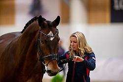 GRAVES Laura (USA), Verdades<br /> Göteborg - Gothenburg Horse Show 2019 <br /> Vet-Check Dressurpferde<br /> Longines FEI Jumping World Cup™ Final and FEI Dressage World Cup™ Final<br /> 04. April 2019<br /> © www.sportfotos-lafrentz.de/Stefan Lafrentz