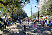 Waiting For the Next Parade, Mardi Gras, St. Charles Ave., New Orleans 2016