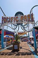 Pacific Park Entrance at Santa Monica Pier, Santa Monica, California
