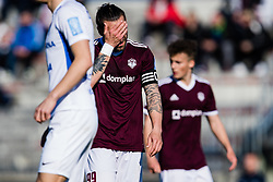 Luka Majcen of NK Triglav  during the football match between NK Triglav Kranj and NK Celje in 25. Round of Prva liga Telekom Slovenije 2019/20, on March 8, 2020 in Sportni park Kranj, Slovenia. Photo by Grega Valancic / Sportida