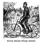Rover Spring Frame Safety Bicycle From Wheels and Wheeling; An indispensable handbook for cyclists, with over two hundred illustrations by Porter, Luther Henry. Published in Boston in 1892
