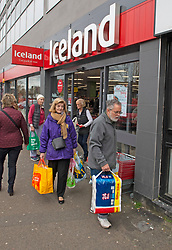 ©Licensed to London News Pictures 18/03/2020<br /> Petts Wood, UK. Elderly customers this morning at the Iceland store in Petts Wood, Greater London. Iceland stores in the UK have allocated the first two hours of a trading day to the over sixty fives and the vulnerable because of the impact of Coronavirus on food supplies. Photo credit: Grant Falvey/LNP