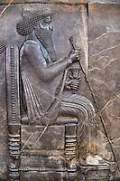 Iran, Teheran, Musée national de l'Iran, Persepolis, Apadana, salle d'audience de Darius I, Darius I // Iran, Tehran, National Museum of Iran, Persepolis, Apadana, Darius I
