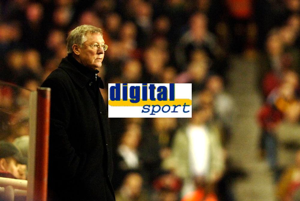 Photo: Daniel Hambury.<br />Arsenal v Manchester United. The Barclays Premiership.<br />03/01/2006.<br />United's manager Sir Alex Ferguson