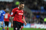 Cardiff city's Craig Bellamy shows his frustration as his team lose. NPower championship, Cardiff city v Peterborough Utd at the Cardiff city stadium in Cardiff, South Wales on Sat 15th Dec 2012. pic by Andrew Orchard, Andrew Orchard sports photography,