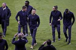 February 19, 2019 - Madrid, Madrid, Spain - Juventus' players Paulo Dybala, Moise Kean, Cristiano Ronaldo and Martin Caceres are seen during the Press Conference before the UEFA Champions League match between Atletico de Madrid and Juventus at the Wanda Metropolitano Stadium in Madrid. (Credit Image: © Legan P. Mace/SOPA Images via ZUMA Wire)