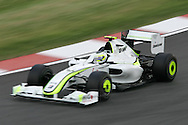 2009 Formula 1 Santander British Grand Prix at Silverstone in Northants, Great Britain. action from Friday practice on 19th June 2009. Rubens Barrichello  of Brazil drives his Brawn GP car.