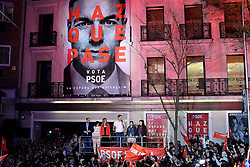 April 28, 2019 - Madrid, Spain - The Socialist Party (PSOE) of Prime Minister Pedro Sánchez won the Spanish general election in Madrid on 28th April, 2019. (Credit Image: © Juan Carlos Lucas/NurPhoto via ZUMA Press)