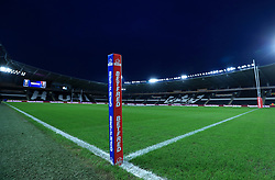 A general view of the pitch before the Betfred Super League match at the KCOM Stadium, Hull.