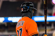 Giancarlo Stanton #27 of the Miami Marlins waits on-deck against the Minnesota Twins in Game 2 of a split doubleheader on April 23, 2013 at Target Field in Minneapolis, Minnesota.  The Marlins defeated the Twins 8 to 5.  Photo: Ben Krause