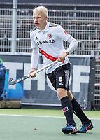 AMSTELVEEN - Luke Dommershuijzen (Amsterdam)    tijdens   hoofdklasse hockeywedstrijd mannen,  AMSTERDAM-PINOKE (1-3) , die vanwege het heersende coronavirus zonder toeschouwers werd gespeeld.  . COPYRIGHT KOEN SUYK