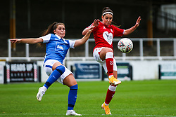 Carla Humphrey of Bristol City Women challenges with Sarah Mayling of Birmingham City Women- Mandatory by-line: Will Cooper/JMP - 18/10/2020 - FOOTBALL - Twerton Park - Bath, England - Bristol City Women v Birmingham City Women - Barclays FA Women's Super League