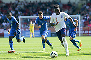 Arvin Appiah of England during the UEFA European Under 17 Championship 2018 match between England and Italy at the Banks's Stadium, Walsall, England on 7 May 2018. Picture by Mick Haynes.