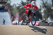 #210 (CHRISTENSEN Simone Tetsche) DEN during practice at Round 9 of the 2019 UCI BMX Supercross World Cup in Santiago del Estero, Argentina