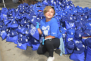 Netflix actress Annie Gonzalez poses at the Dodger Day Drive-Thru at Belvedere Park, Tuesday, June 30, 2020, in Los Angeles. The event was hosted by The Los Angeles Dodgers Foundation, which distributed food boxes, books, sports equipment, clothing, toys and hygiene supplies to more than 1,000 registered youth from the Boyle Heights, East Los Angeles, La Puente and Monterey Park communities.
