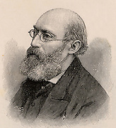 George Buchanan (1831-1895) English physician with an interest in the improvement of sanitary conditions. Chief medical officer for the Local Government Board (1879-1892).  Engraving, 1895.