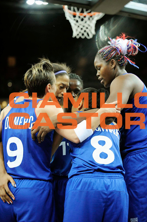 DESCRIZIONE : Basketball Jeux Olympiques Londres Demi finale<br /> GIOCATORE : Dumerc Celine Lawson Edwige Yacoubou Isabelle NDONGUE Emmeline<br /> SQUADRA : France  FEMME<br /> EVENTO : Jeux Olympiques<br /> GARA : France Russie<br /> DATA : 09 08 2012<br /> CATEGORIA : Basketball Jeux Olympiques<br /> SPORT : Basketball<br /> AUTORE : JF Molliere <br /> Galleria : France JEUX OLYMPIQUES 2012 Action<br /> Fotonotizia : Jeux Olympiques Londres demi Finale Greenwich Northwest Arena<br /> Predefinita :