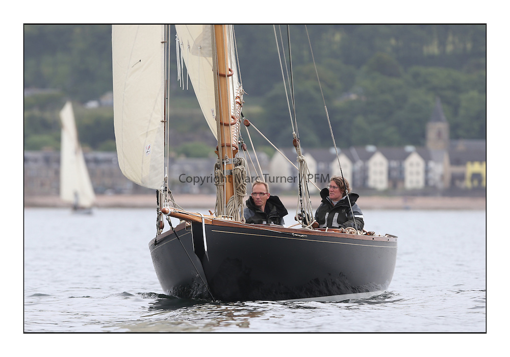 Day one of the Fife Regatta, Round Cumbraes Race.<br /> <br /> Tringa, G&H Scharbaum, GER, Gaff Sloop, Wm Fife 3rd, 2010  off Fairlie<br /> <br /> * The William Fife designed Yachts return to the birthplace of these historic yachts, the Scotland's pre-eminent yacht designer and builder for the 4th Fife Regatta on the Clyde 28th June–5th July 2013<br /> <br /> More information is available on the website: www.fiferegatta.com