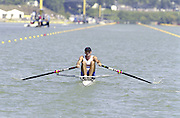 St Catherines, CANADA,  Men's Lightweight Single Sculls.  GBR. LM1X. Peter HAINING..1999 World Rowing Championships - Martindale Pond, Ontario. 08.1999..[Mandatory Credit; Peter Spurrier/Intersport-images]   ... 1999 FISA. World Rowing Championships, St Catherines, CANADA