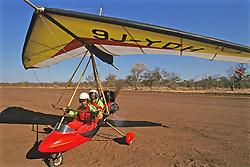 Preparing For Ultra Light Flight Over Victoria Falls