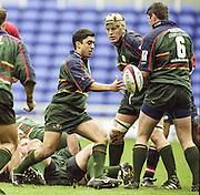 Reading. England. UK.  Kieran CAMPBELL.<br />  <br /> Premiership Rugby. London Irish vs Gloucester Rugby. 16.04.2001. Madejski Stadium. <br /> <br /> [Mandatory Credit, Peter Spurrier/ Intersport Images].