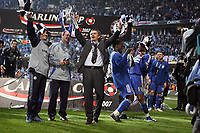 Photo: Rich Eaton.<br /> <br /> Chelsea v Arsenal. Carling Cup Final. 25/02/2007. Jose Mourinho, manager of Chelsea celebrates victoryover Arsenal by 2 goals to 1
