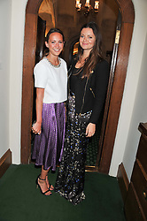 Left to right, LAVINIA BRENNAN and LADY NATASHA RUFUS ISAACS at a reception for The Mirela Fund in partnership with Hope and Homes for Children hosted by Natalie Pinkham in The Churchill Room, House of Commons, London on 30th April 2013.