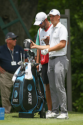 May 25, 2019 - Fort Worth, TX, U.S. - FORT WORTH, TX - MAY 25: Jordan Spieth looks over the 6th hole during the third round of the Charles Schwab Challenge on May 25, 2019 at Colonial Country Club in Fort Worth, TX. (Photo by George Walker/Icon Sportswire) (Credit Image: © George Walker/Icon SMI via ZUMA Press)