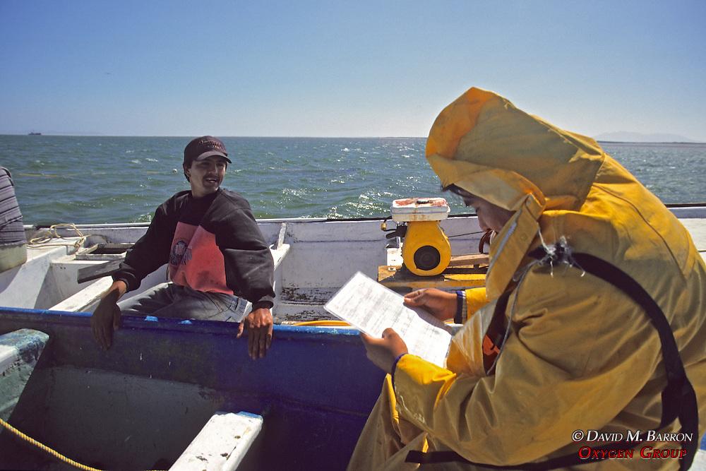 Profepa Checking Fisherman's Licenses