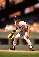 CHICAGO - 1986:  Don Mattingly of the New York Yankees fields during an MLB game versus the Chicago White Sox during the 1986 season at Comiskey Park in Chicago, Illinois. (Photo by Ron Vesely) Subject:   Don Mattingly