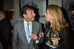 LONDON, ENGLAND 1 DECEMBER 2016: Sir Rocco Forte, Lady Forte at the Smythson & Brown's Hotel Christmas Party held at Brown's Hotel, Albemarle St, Mayfair, London, England. 1 December 2016.