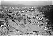 "Ackroyd 05346-5. ""Guilds Lake aerials. July 12, 1954"" (vicinity of Kittridge, St. Helens & Yeon)"