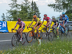 07.07.2016, Villach, AUT, Ö-Tour, Österreich Radrundfahrt, 5. Etappe, Millstatt auf den Dobratsch, im Bild v.l. Hermann Pernsteiner (AUT, Team Amplatz - BMC), Jan Hirt (CZE, CCC Sprandi Polkowice), Stephane Rossetto (FRA, Cofidis, Solution Credits), Patrick Schelling (SUI, Team Vorarlberg) // during the Tour of Austria, 5th Stage from Millstatt nach Dobratsch. Villach, Austria on 2016/07/07. EXPA Pictures © 2016, PhotoCredit: EXPA/ Reinhard Eisenbauer