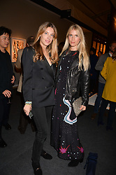 Sara Brajovic and Maria-Theresia Pongracz at the 2017 PAD Collector's Preview, Berkeley Square, London, England. 02 October 2017.