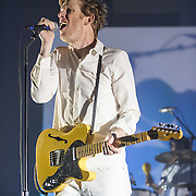 WASHINGTON, DC - September 2nd, 2014 - Britt Daniel of Spoon performs during the first of three sold-out nights at the Lincoln Theatre in Washington, D.C. (Photo by Kyle Gustafson / For The Washington Post)