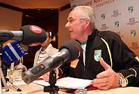 Trainer Sven Goran Eriksson (CIV) waehrend die Medienkonferenz in Royal Plaza Hotel in Montreux. © Pascal Muller/EQ Images