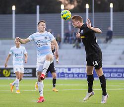 Zander Hyltoft (Vendsyssel FF) og Sebastian Czajkowski (FC Helsingør) under kampen i 1. Division mellem FC Helsingør og Vendsyssel FF den 18. september 2020 på Helsingør Stadion (Foto: Claus Birch).