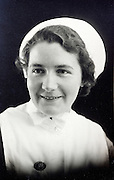head and shoulders portrait of a nurse 1900s England