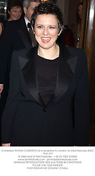 Comedian RHONA CAMERON at a reception in London on 23rd February 2003.<br />PHK 319