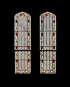 """Window 4 on plan. Each panel is 14""""w x 56""""h<br /> <br /> St. Edward's Convent, Bar Harbor, Maine."""