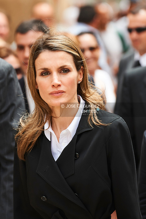 Prince Felipe of Spain and Princess Letizia during a visitint the most damaged area during the earthquake, Grown Zero. Nine people were killed in the earthquakes measuring 4.4 and 5.2 on the Richter scale that hit the historic city of Lorca. The quakes were Spain's worse in 50 years.