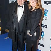 NLD/Hilversum/20150217 - Inloop Buma Awards 2015, Ron Stoeltie en dochter