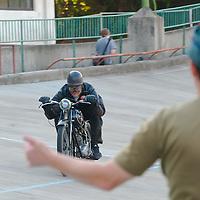 HIstoric motorbike race in Budapest, Hungary on September 17, 2011. ATTILA VOLGYI
